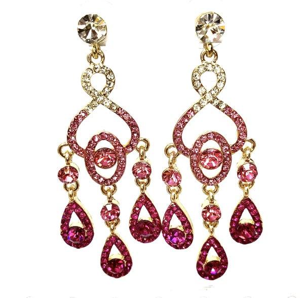 Rhinestone Dangle Chandelier Earrings 2.5inch
