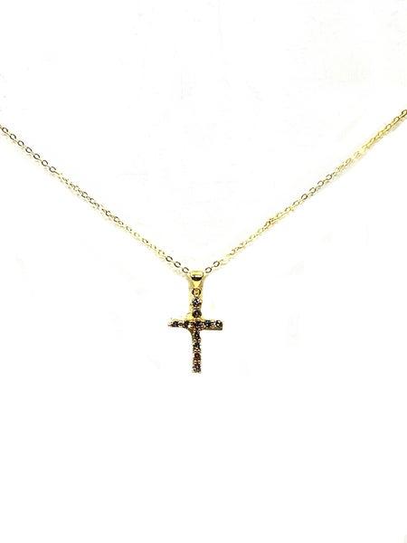 FAIRE - Diamond Cross Necklace
