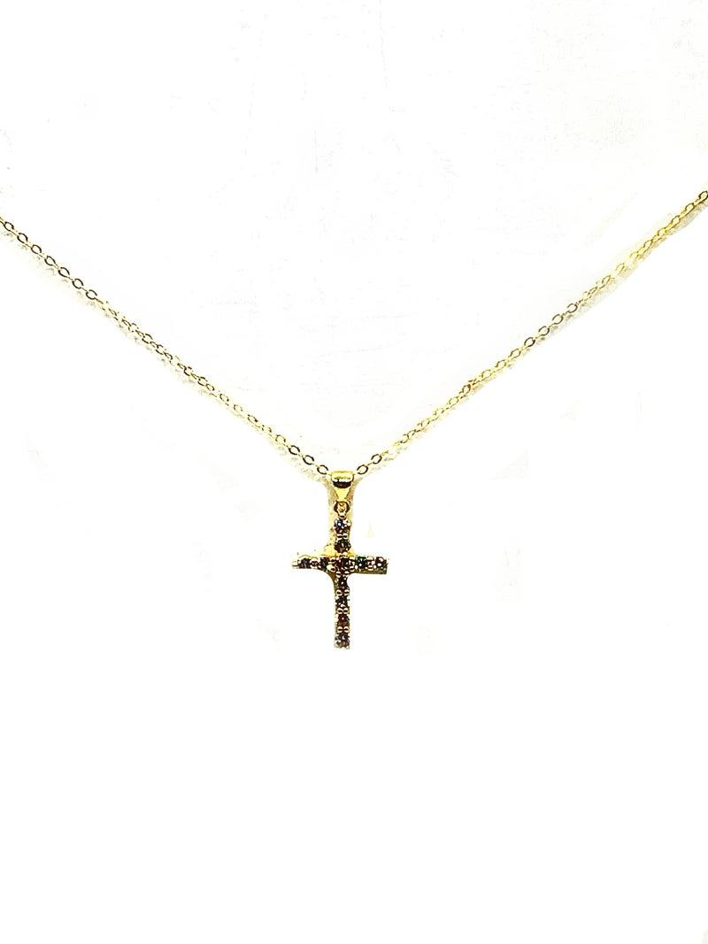 FAIRE - Diamond Cross Necklace