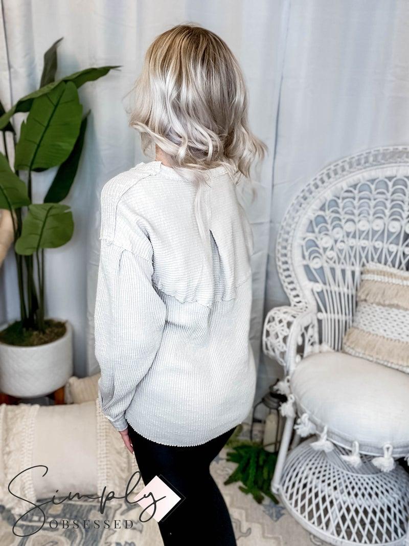 Easel - Sweet romance knit top