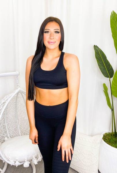 Yelete - Macrame cut out sports bra