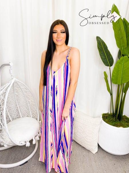 Style Rack - Striped maxi dress