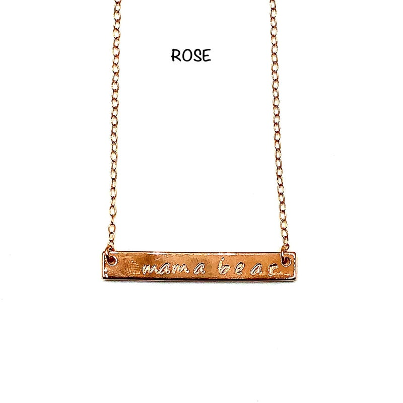 LAALEE - Mama Bear Bar Necklace