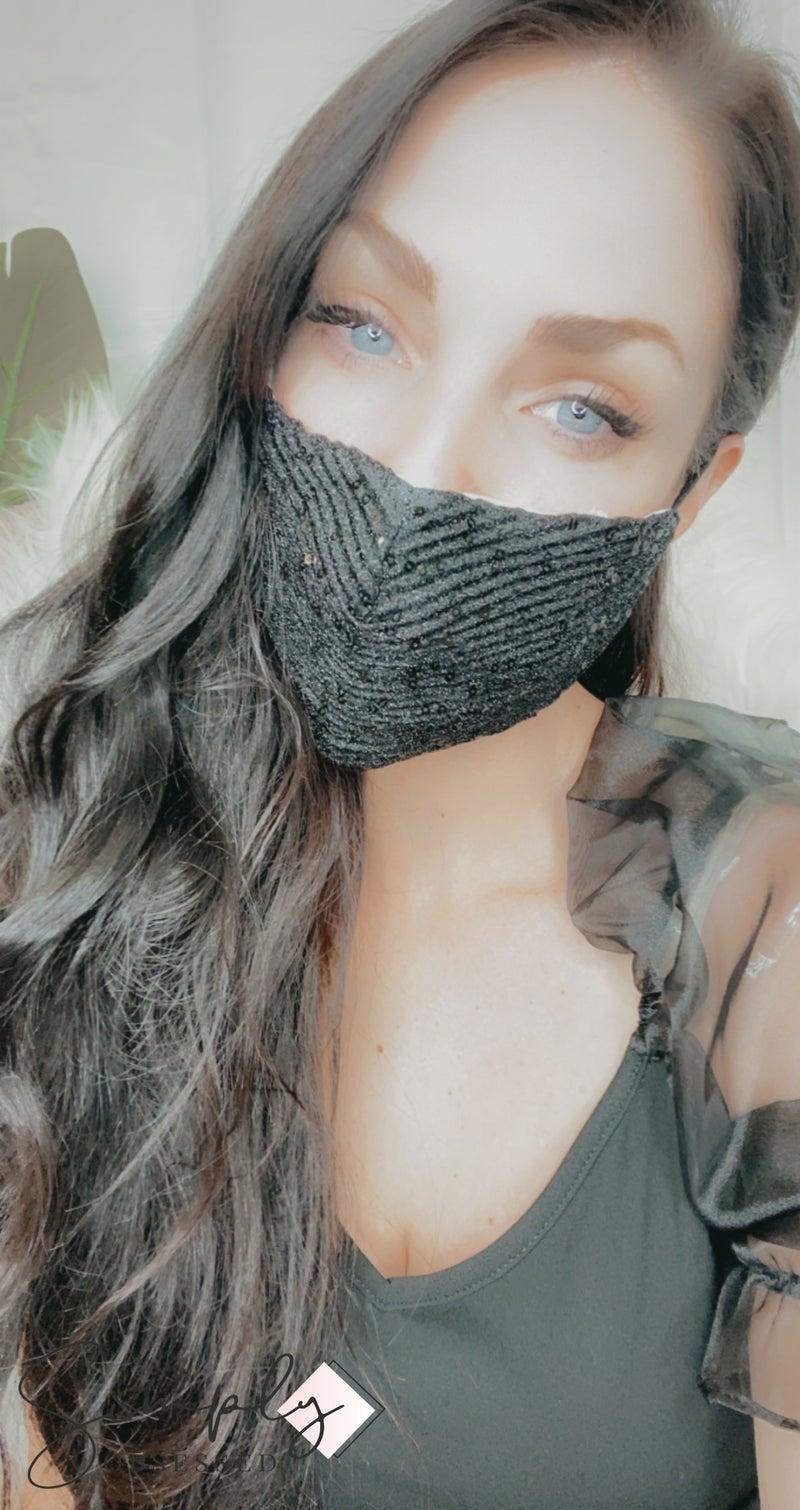 FAIRE - Double Layer Sequin Face Mask