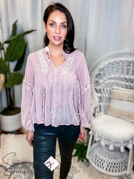 Blue B - Airy Blouse In Woven Modal Fabric