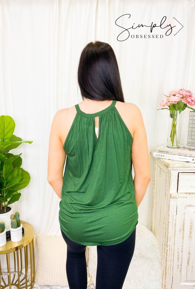 Hailey & Co - Twist detail halter neck top