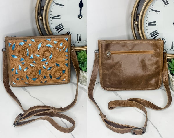 American Darling - Leather work detail cross body bag