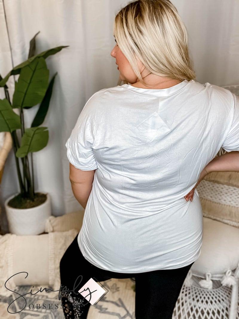 Sew In Love - Solid V Neck Top W/ Pocket