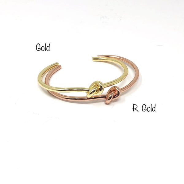 Lets Knot Bangle Cuff Bracelet