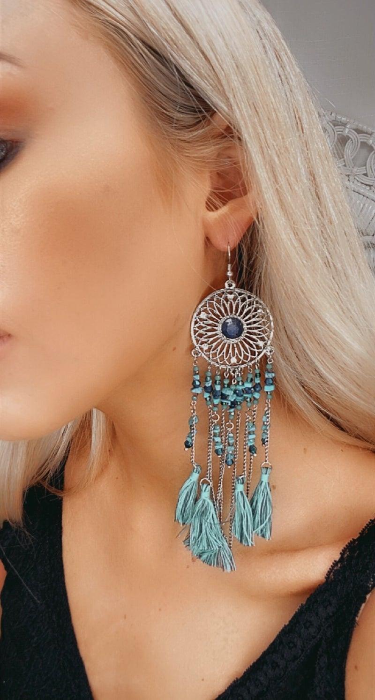 Flower Rhinestone Detail Earring