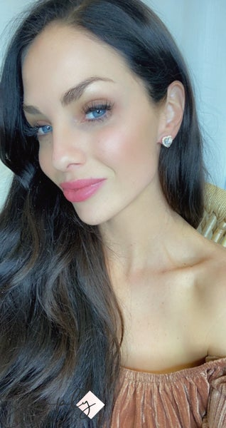 TJ Heart crystal Stud earrings
