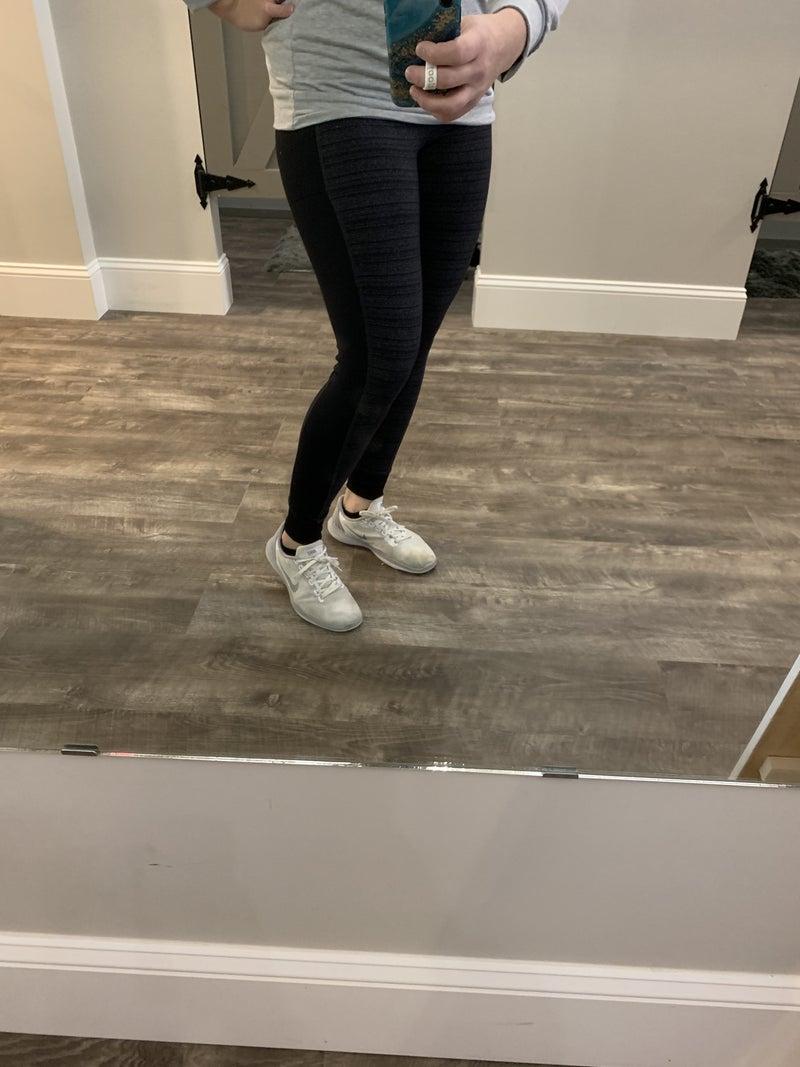 Black & Gray Cuffed Leggings