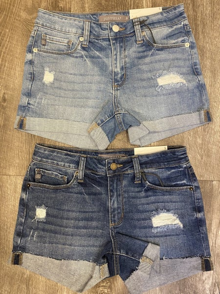 Mid Rise Shorts w/ Cuff *Final Sale*
