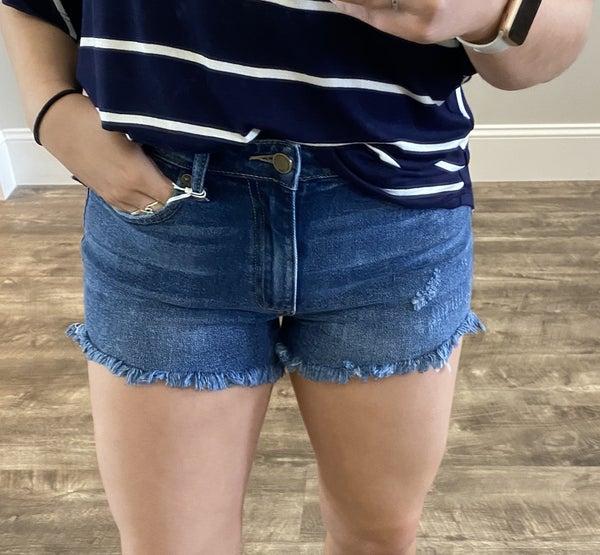 Uneven Hem Shorts *Final Sale*