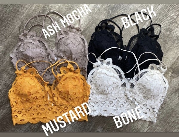 Fall Scalloped Lace Bralettes