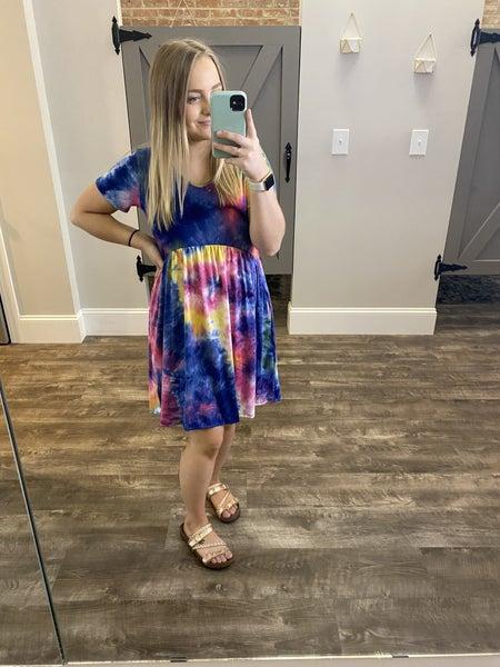 All the Best Tie Dye Dress