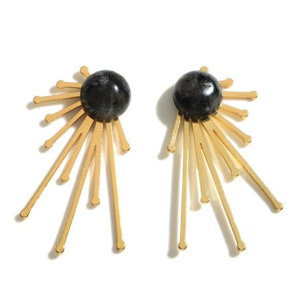 Burst Of Gold Earrings