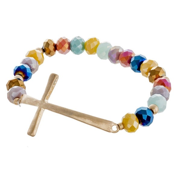 All Things Shiny Cross Bracelet