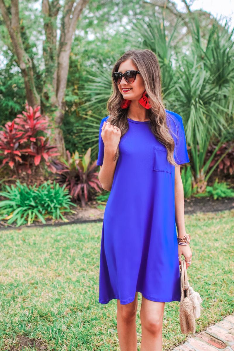 Maddy T-Shirt Dress *Blue*