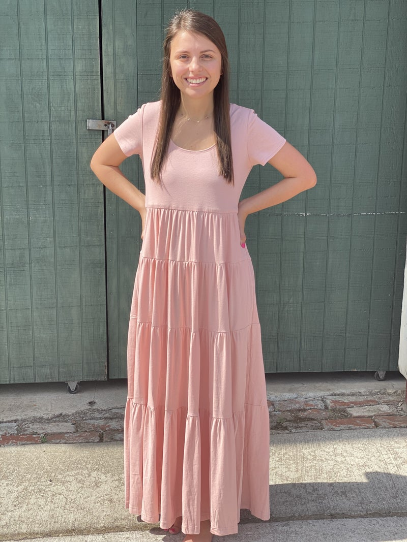 Without A Doubt Maxi Dress W/Pockets