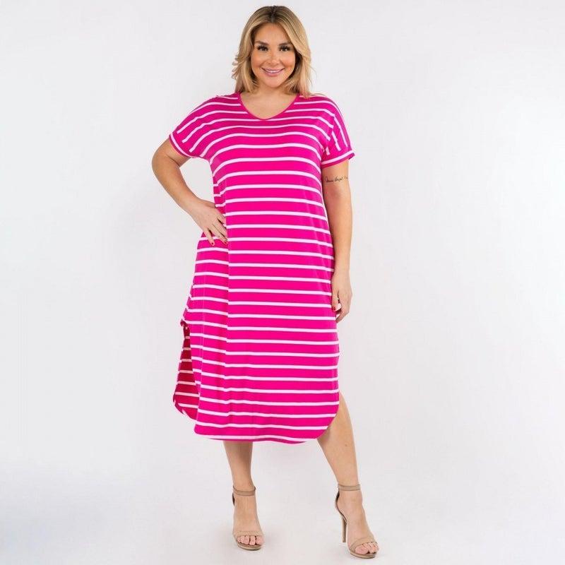 Get In Line Dress *Pink*