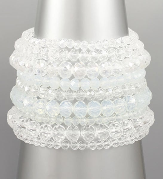 Clear-blue Bracelet Stack