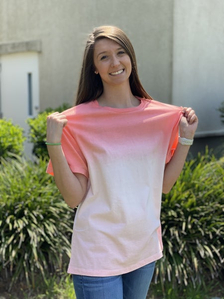 Savvy Deal! Your Favorite Ombre' Tee *Coral* *Final Sale*