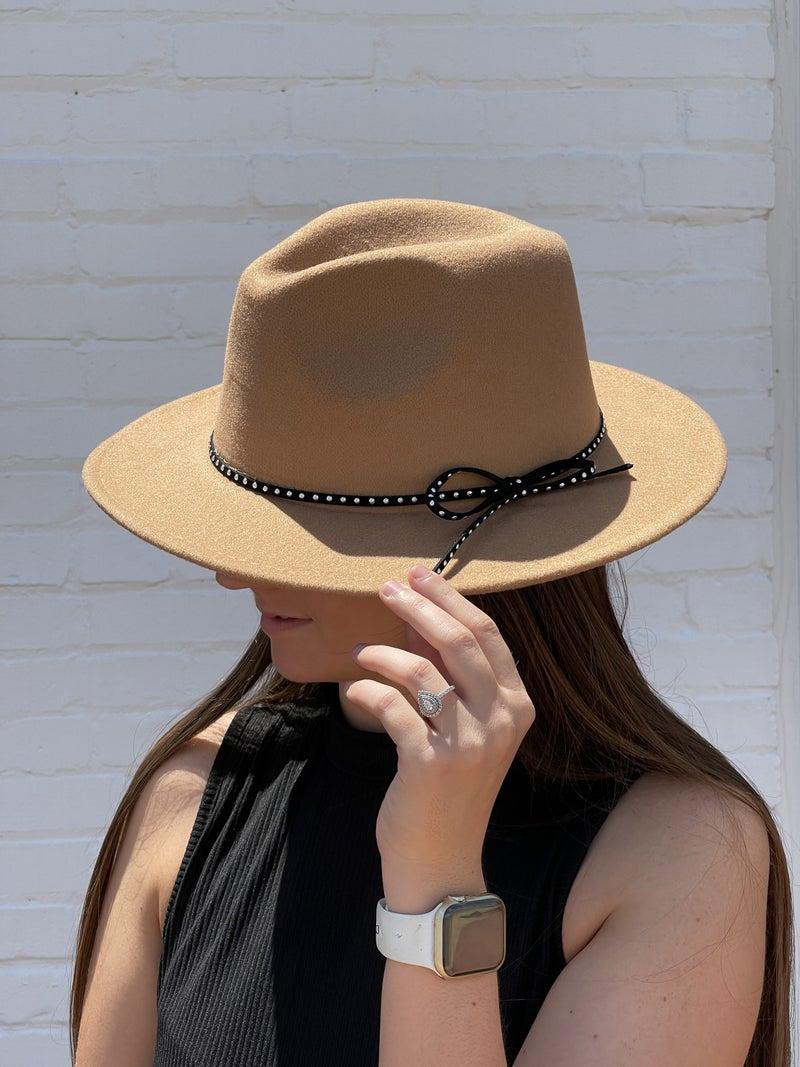 Wool Felt Fedora Hat *Beige*