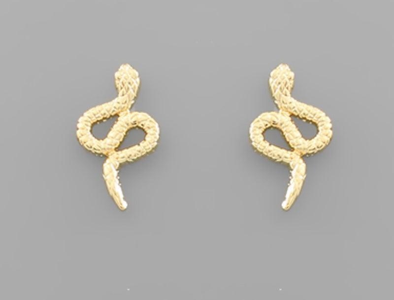 Snake Gold Dipped Earrings