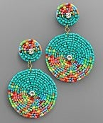 Here For The Party Earrings *Turquoise*