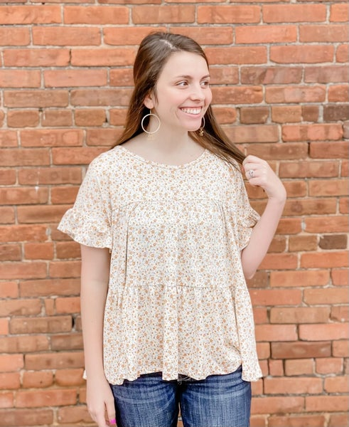 Blowing in the Wind Floral top