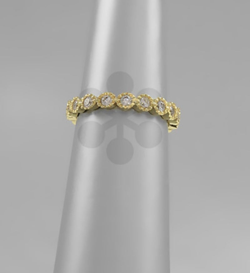 My Fav Gold Ring with Sparkles - 4 Sizes