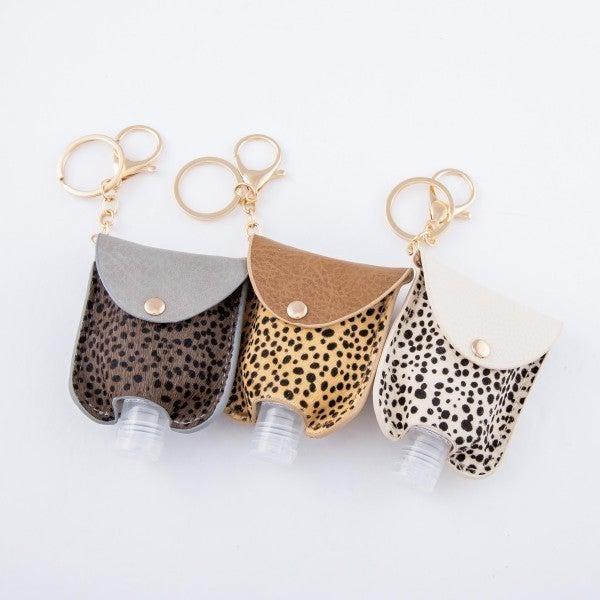 Cheetah Speckled Print Hand Sanitizer Holder