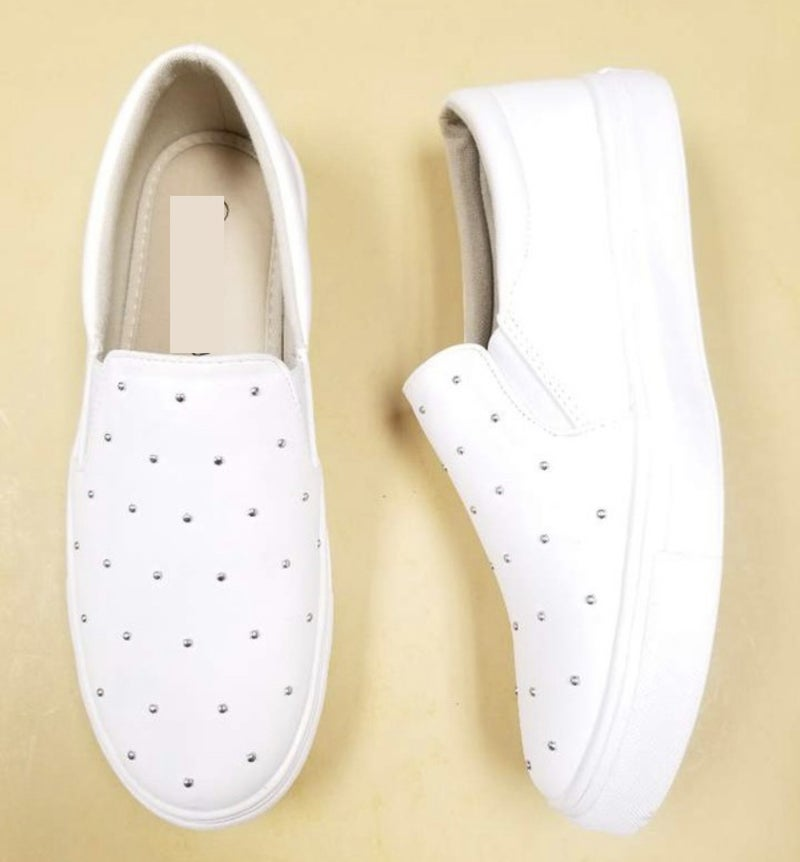 White Stud Sneakers