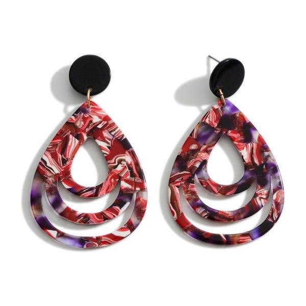 Multicolor Drop Resin Earrings