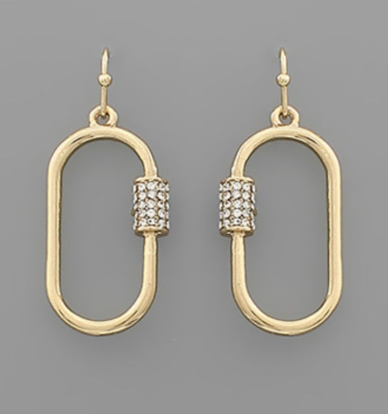 Gold + Crystal Dangles
