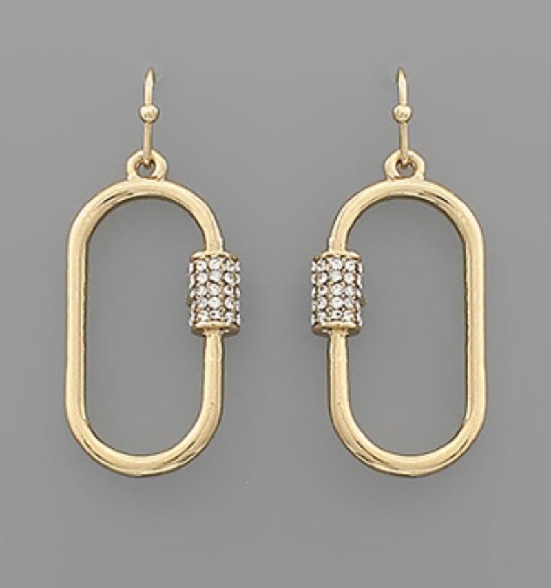 Gold + Crystal Dangles