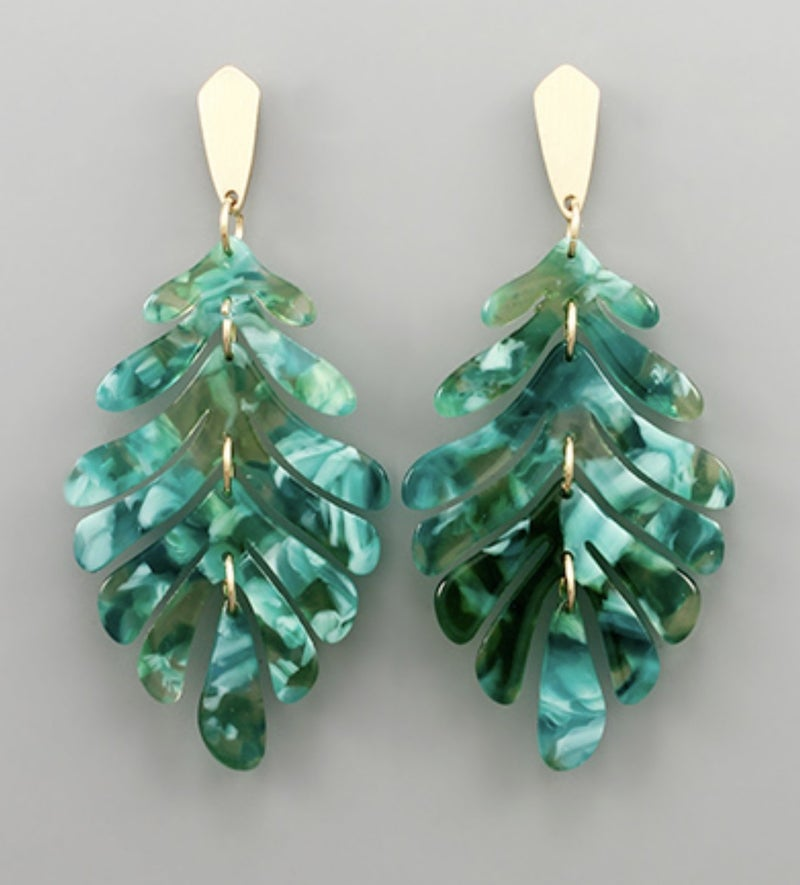 Green Acrylic Palms