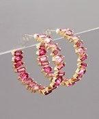 Poppin' Pink Earrings