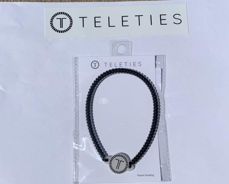 Jet Black Teleties Headband