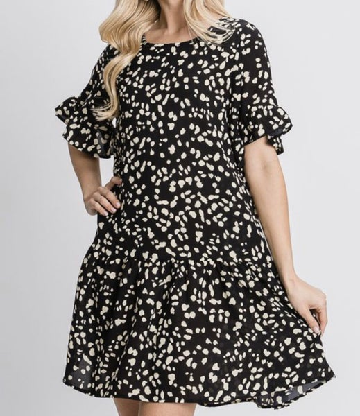 Just Can't Get Enough Dress - Black