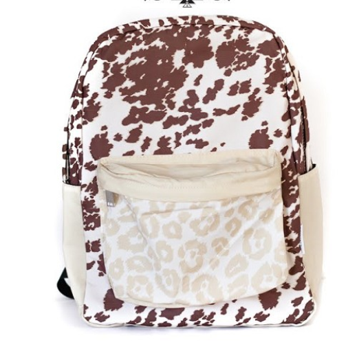 Cow + Leopard Backpack