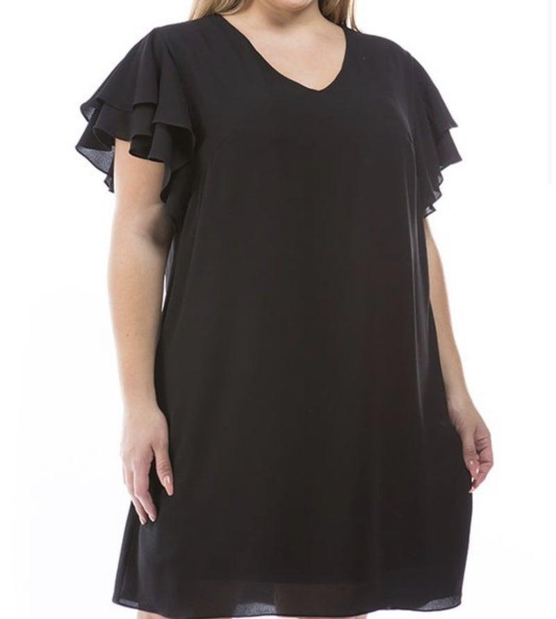 Curvy Line! She's So Classic Dress Black