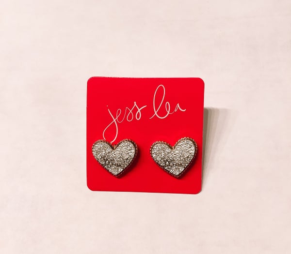 Sweetheart Druzy Earrings