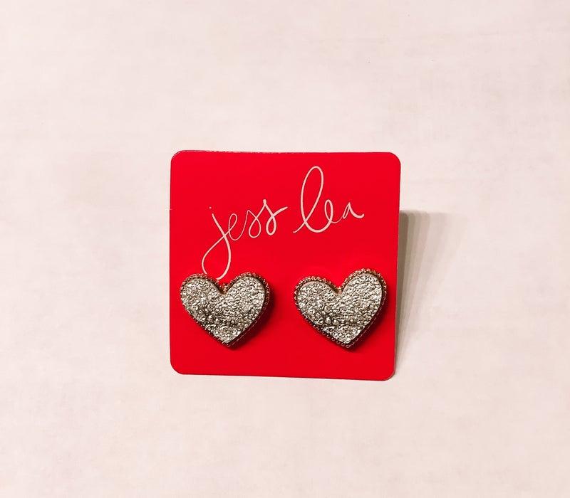 Sweetheart Druzy Earrings