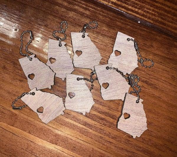 GA Heart Keychains