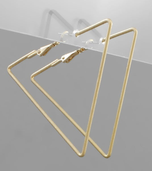 Good As Gold Triangle Earrings