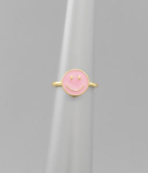 Smiley Gal Ring *Pink*