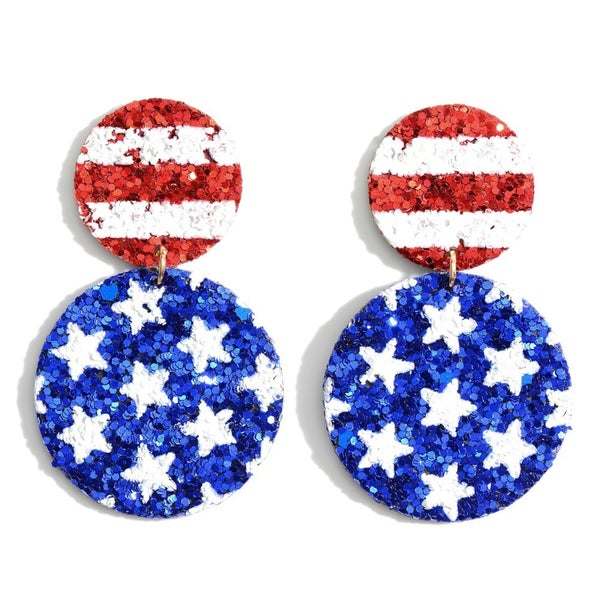 Red, White, & You Earrings