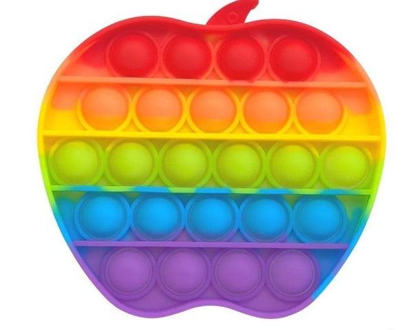 Rainbow Apple Shaped Push Pop Fidget Toy